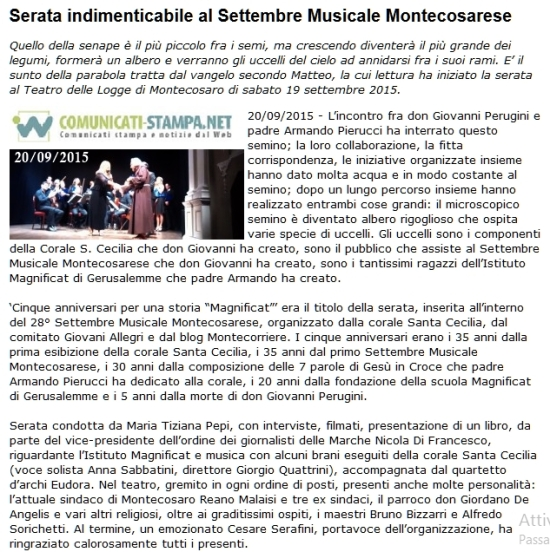 articolo post serata Magnificat COMUNICATI STAMPA 20-9-15