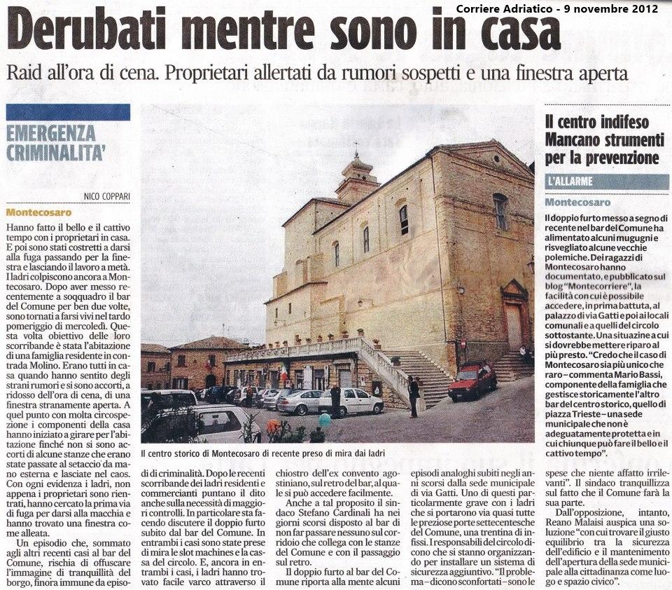 Corriere Adriatico 9/11/12