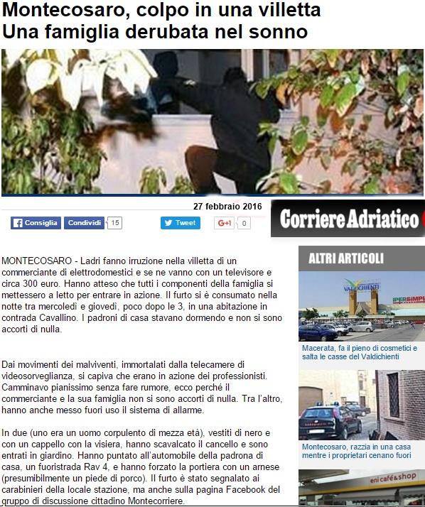 corriere adriatico furto in casa 27-2-16