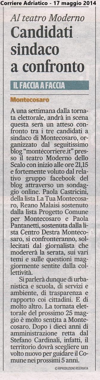 Corriere Adriatico 17/5/14