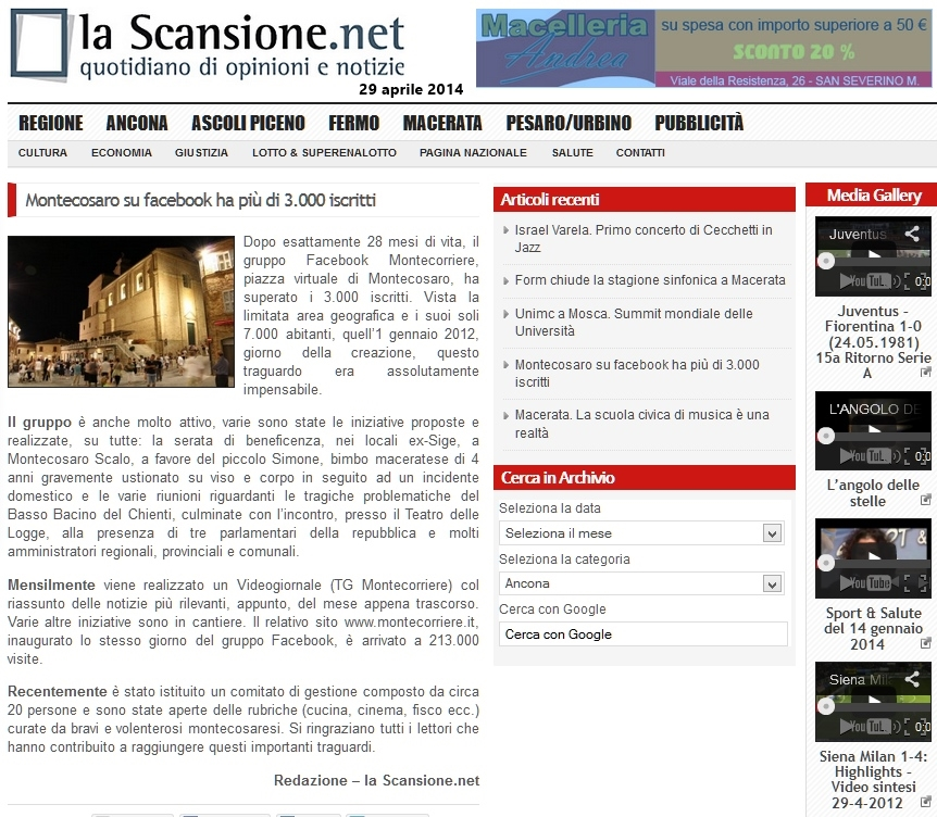 La Scansione 29/04/14