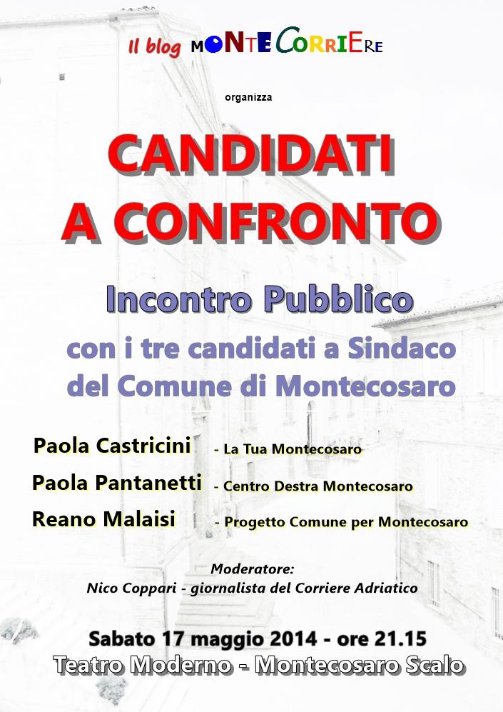 locandina confronto candidati sindaco