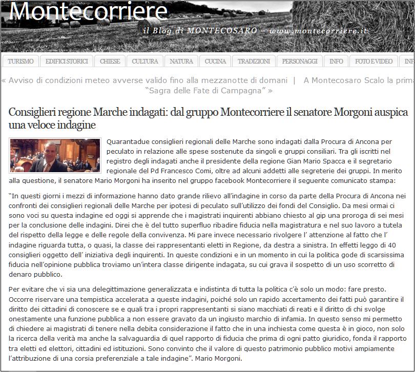 Morgoni consiglieri regionali