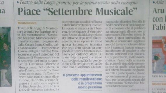settembre musicale articolo