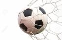 15829065-pallone-da-calcio-in-rete-su-bianco-archivio-fotografico